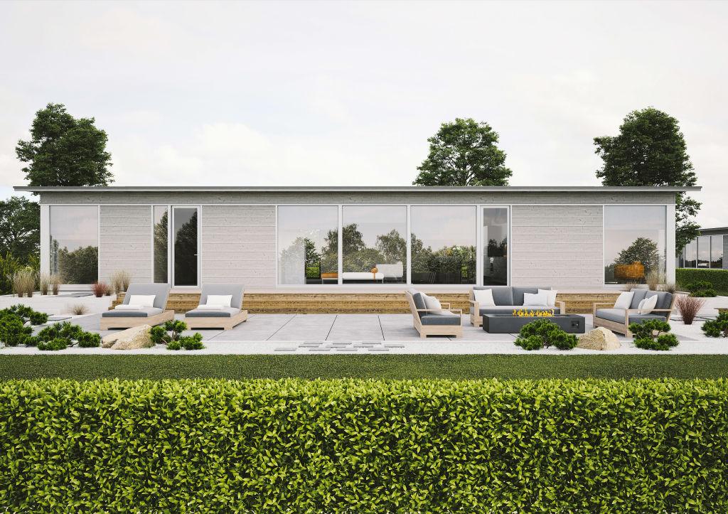 Taloesittely Littoinen - Glass House talo 150A