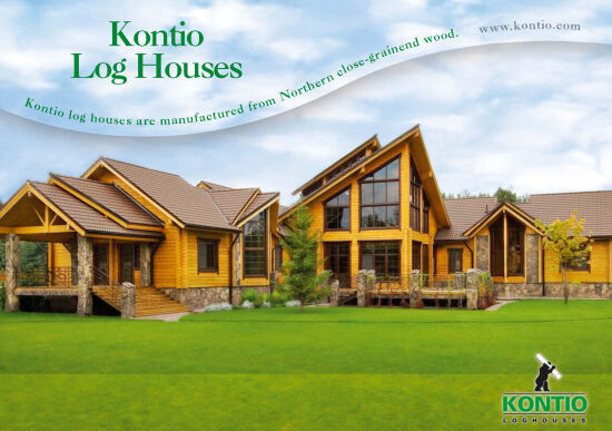 Kontio Log house Living in English
