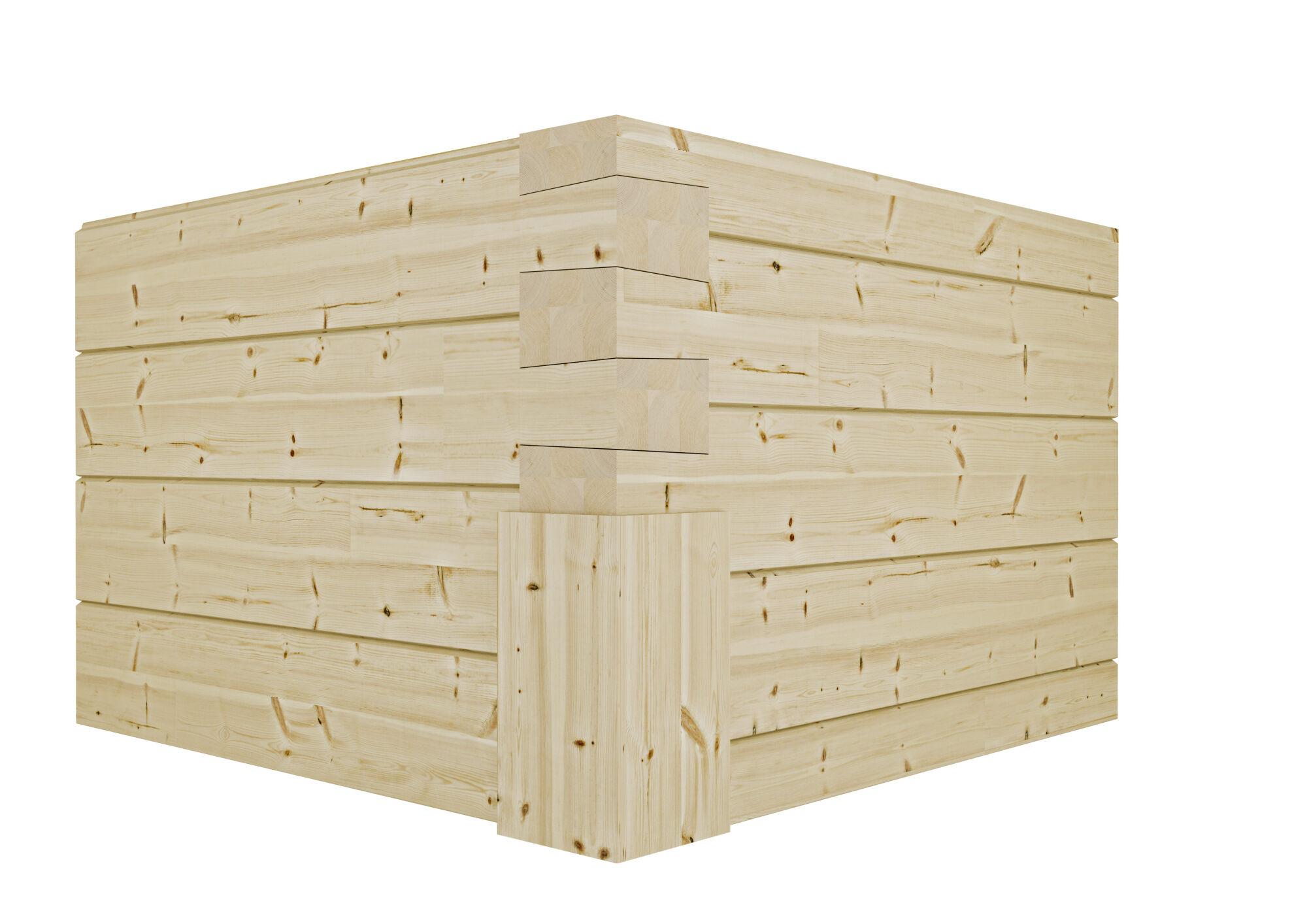 Kontios tyrolerknute med tømmer i modern profil