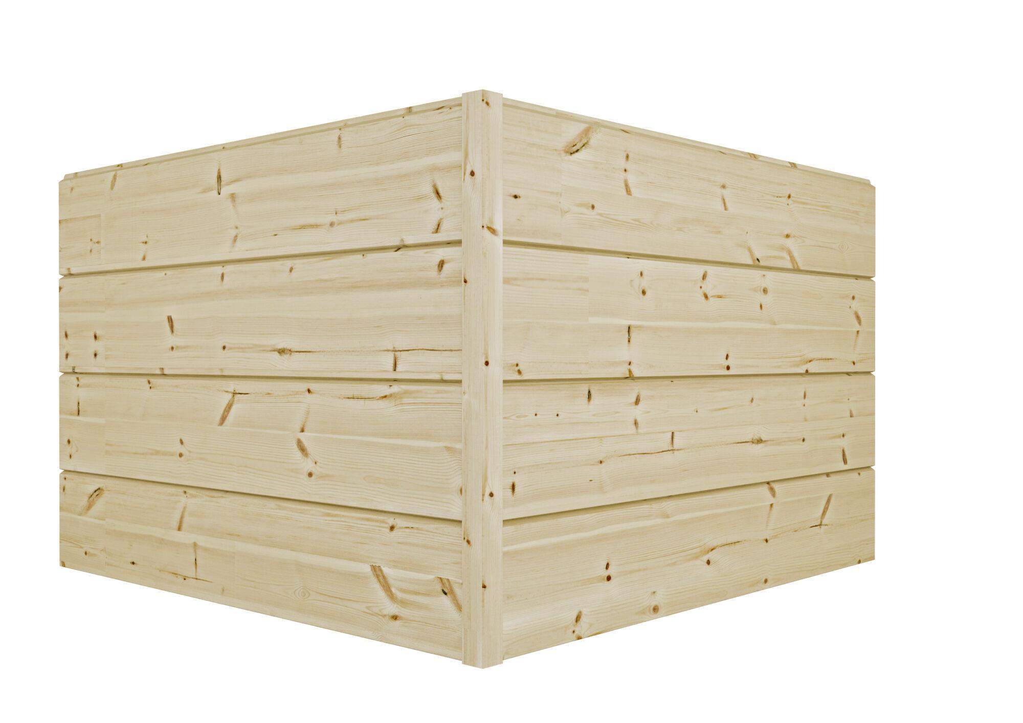 Kontios gjærsagede knute med tømmer i modern profil