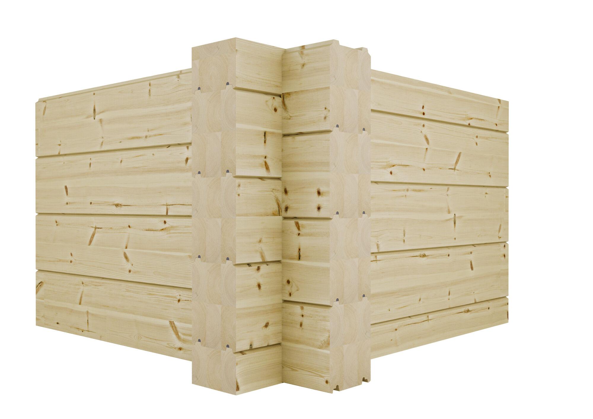 Kontios kryssknute med tømmer i modern profil