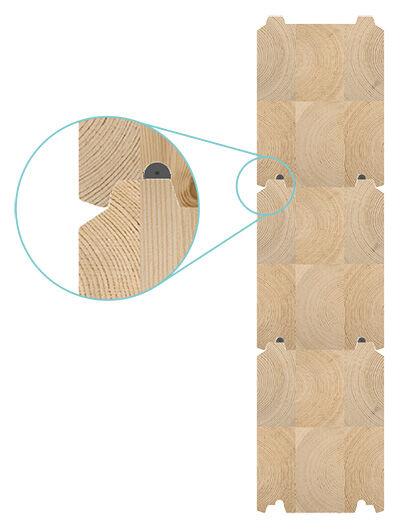 Kontios M-formede tømmerprofil