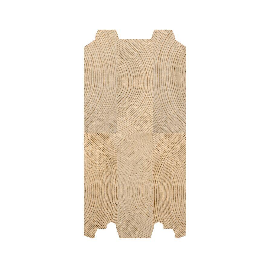 135 x 275 tømmerprofil, til fritidsboliger