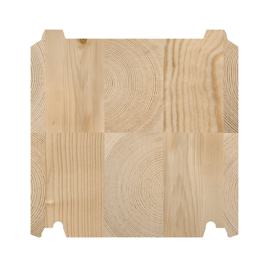 SmartLog™ 275 x 275 setningsfritt tømmer til offentlige bygninger