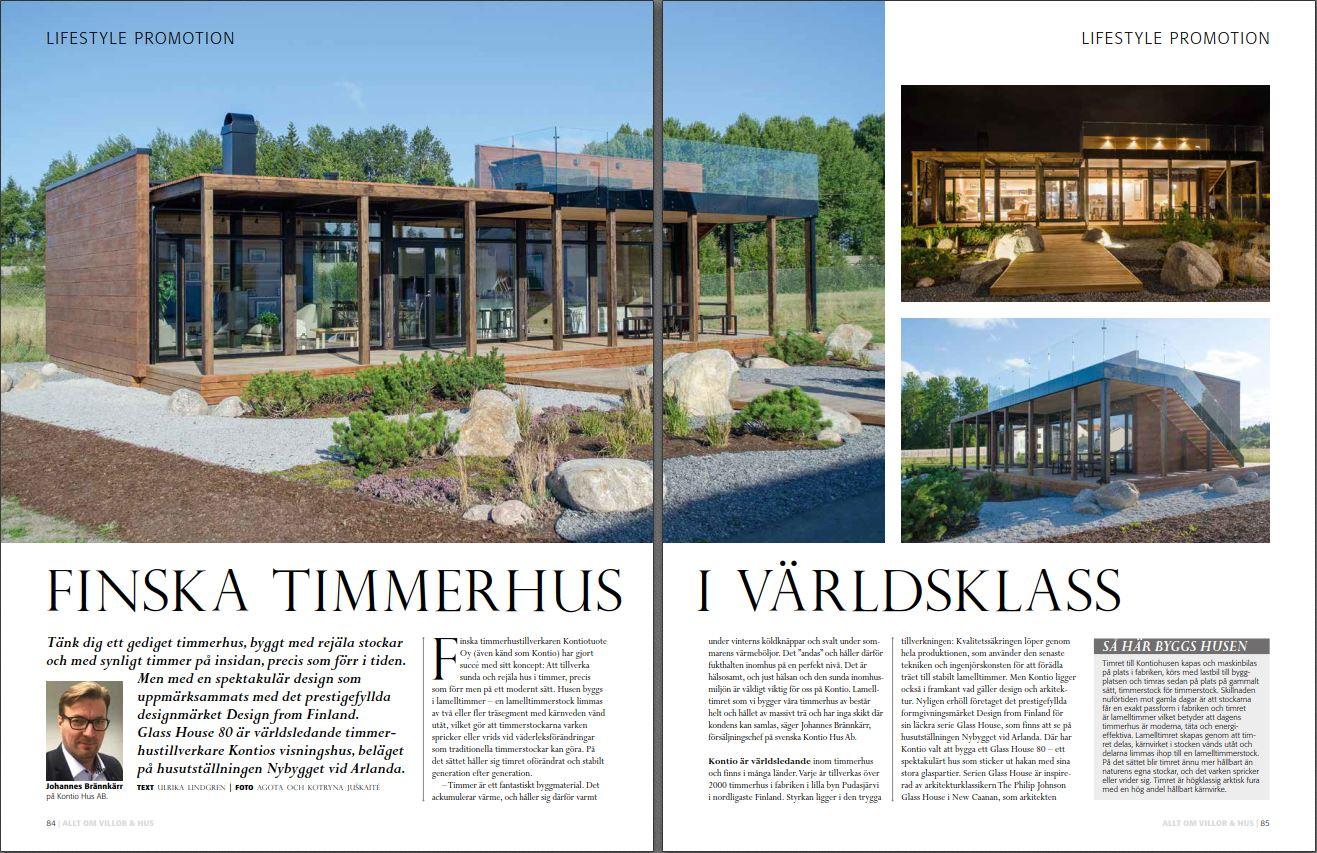 Kontio Hus artikel artikeln finska timmerhus lifestyle
