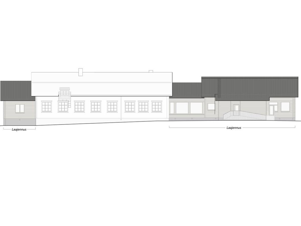 Planen för utbyggnad av skolan i Kipinä