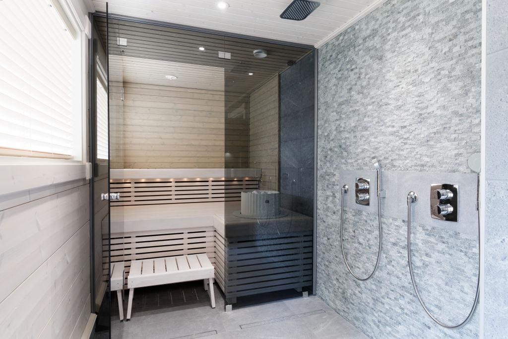 Kontio Toive Mikkeli asuntomessut sauna kylpyhuone living