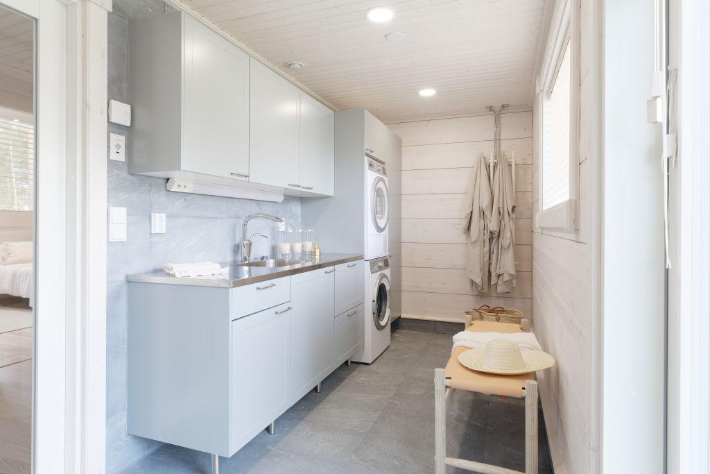 Kontio Toive Mikkeli asuntomessut kodinhoitohuone sauna living