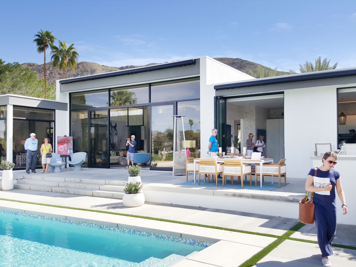 Kontio modernism week design visual visuaalinen glass house palm springs isot lasipinnat taide art