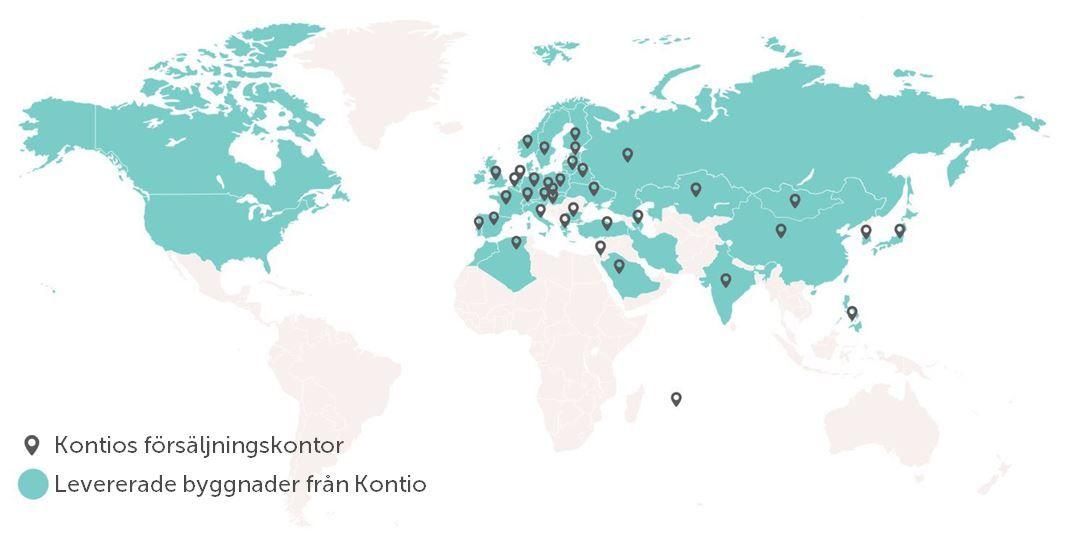 Kontio är en internationell aktör och världens största tillverkare av timmerhus