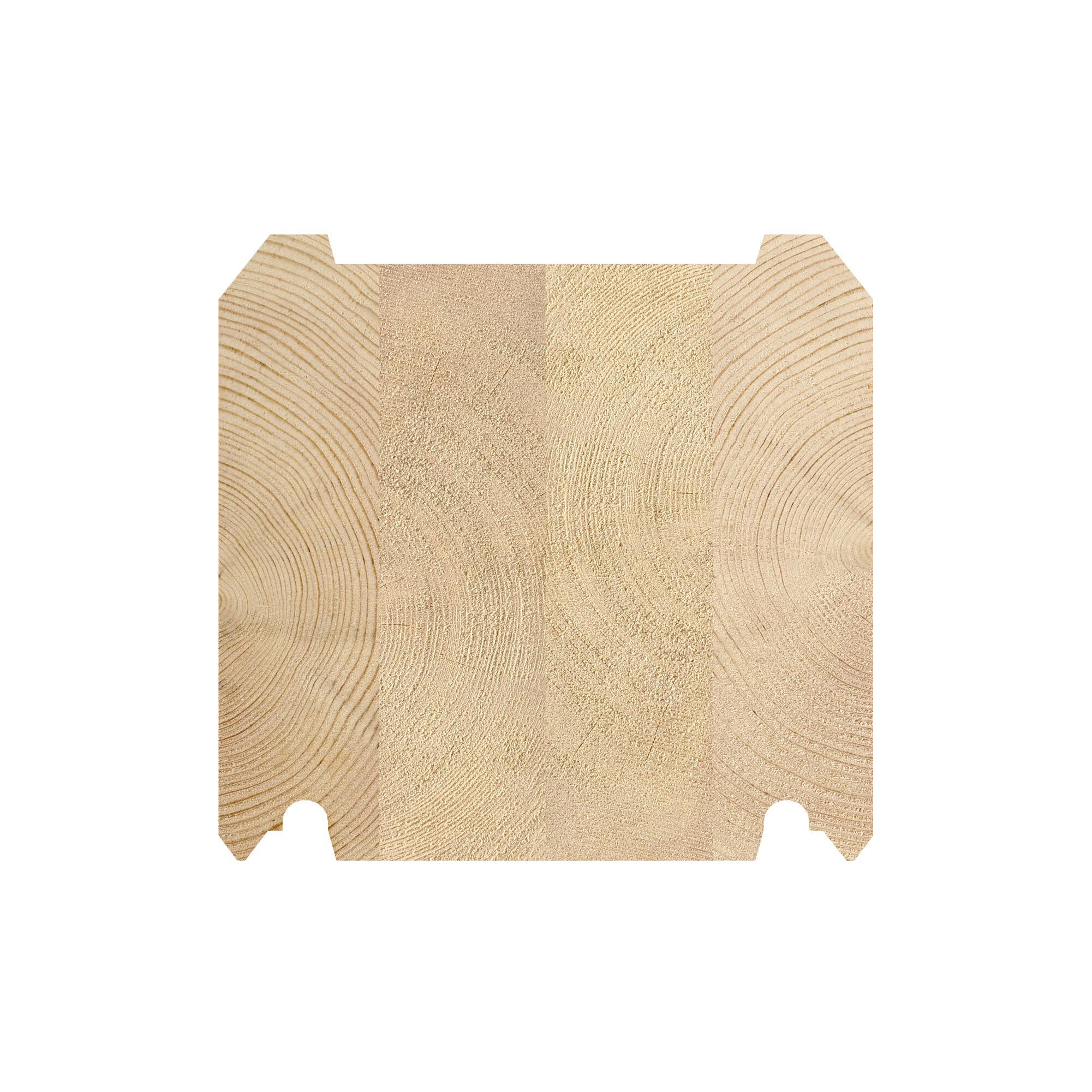 LH 180 x 170 tømmerprofil, til fritidsboliger