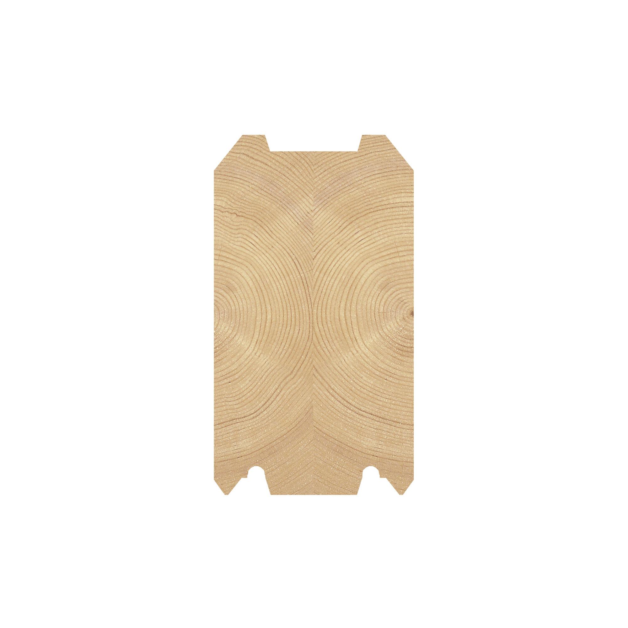 LH 95 x 170 tømmerprofil, til fritidsboliger og badstubygninger