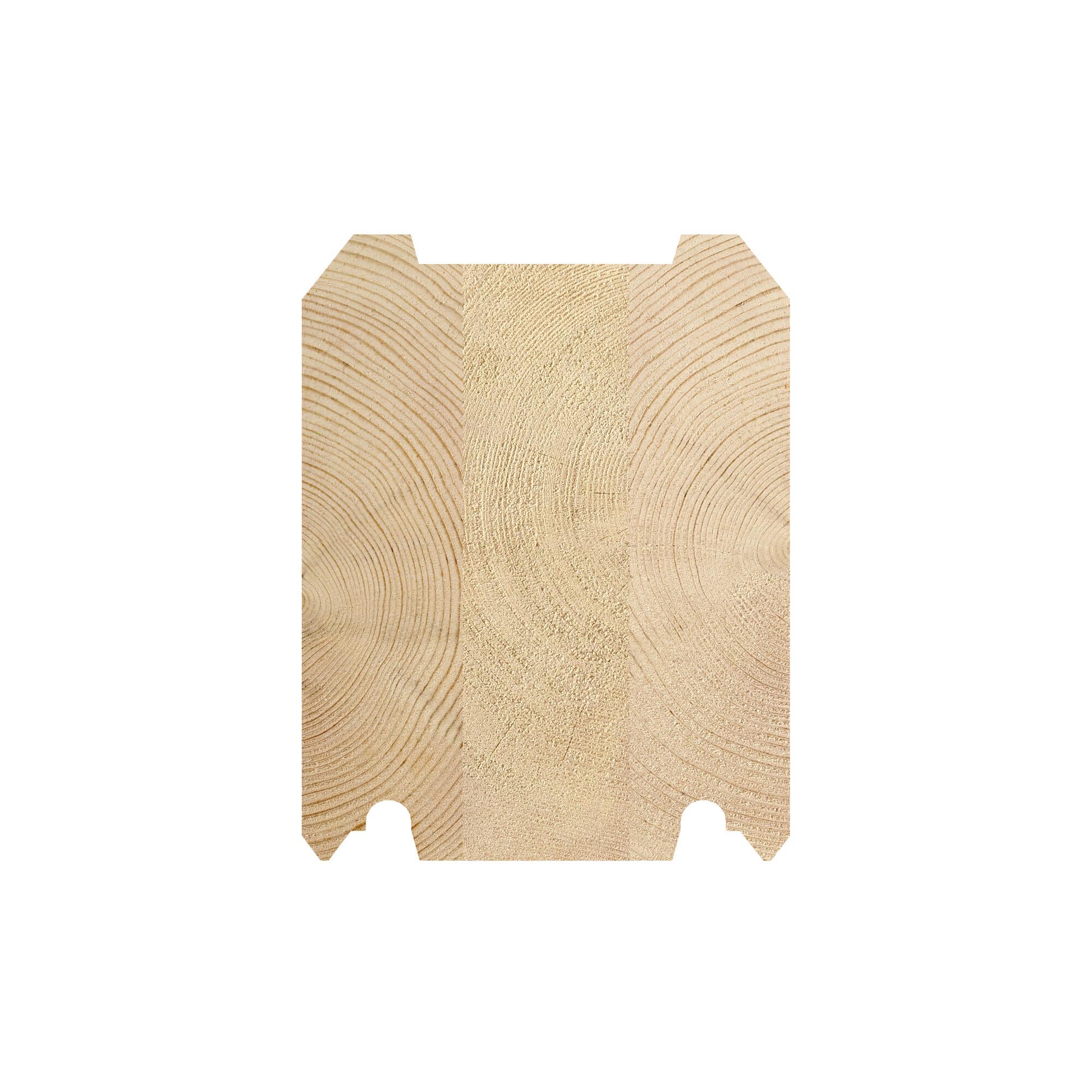 LH 135 x 170 tømmerprofil, til fritidsboliger og badstubygninger