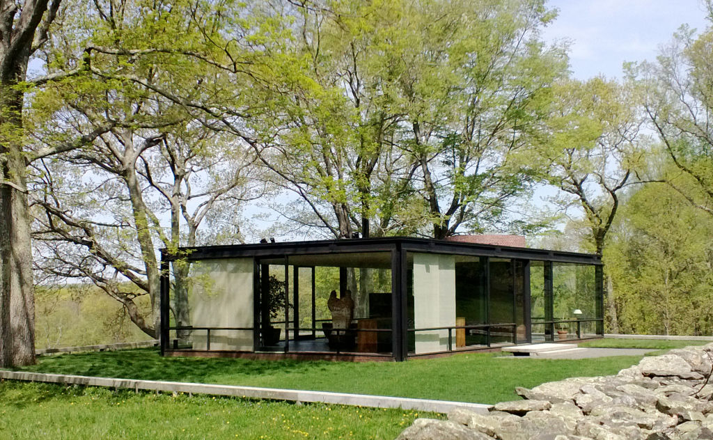 the kontio glass house was inspired by the original glass house in new canaan connecticut architect philip johnson designed the glass house to be his home