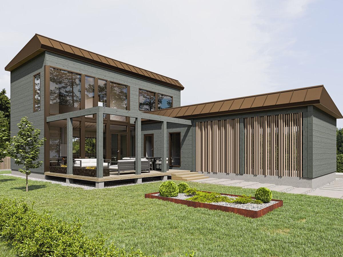 Kontio Hill House 143, epäsymmetrinen harjakatto