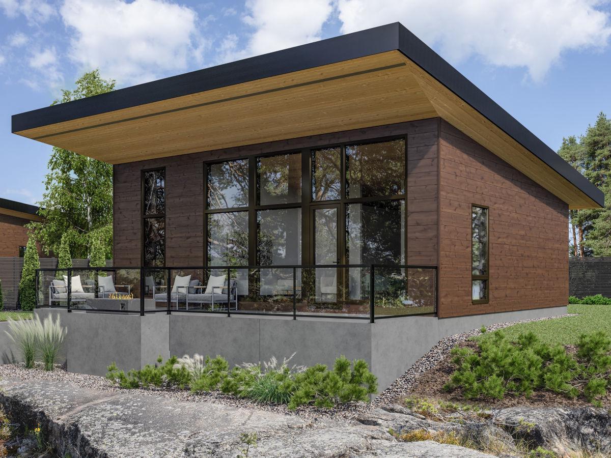 Sky House hus 85A med 3D-överhäng
