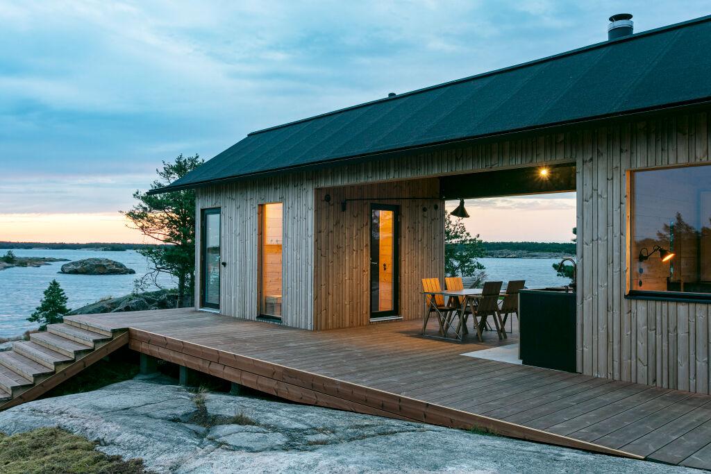 Terrasse et porte coulissante :